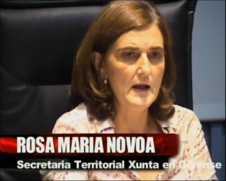 Rosa María Novoa Vega, Secretaria territorial da Xunta de Galicia en Ourense - Xornadas sobre o Rexistro de Parellas de Feito de Galicia
